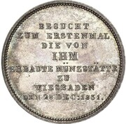 1 Thaler - Wilhelm (Mint Visit) – reverse