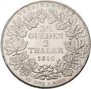 2 Thaler / 3½ Gulden - Adolph von Nassau – reverse