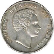 2 Thaler / 3½ Gulden - Adolph von Nassau – obverse