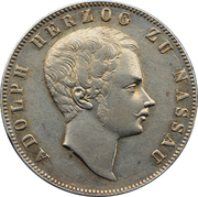 1 Gulden - Adolph I – obverse