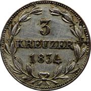 3 Kreuzer - Wilhelm – reverse