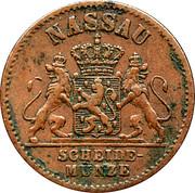 1 Pfennig - Adolph – obverse