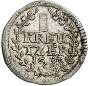 1 Kreuzer - Elisabeth Charlotte – reverse