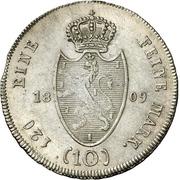 10 Kreuzer - Friedrich August – reverse