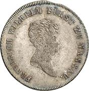 10 Kreuzer - Friedrich Wilhelm zu Weilburg (Konventionskreuzer) – obverse