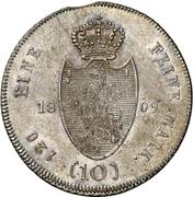10 Kreuzer - Friedrich Wilhelm zu Weilburg (Konventionskreuzer) – reverse