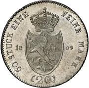 20 Kreuzer - Friedrich Wilhelm zu Weilburg (Konventionskreuzer) – reverse