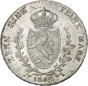 1 Thaler - Friedrich Wilhelm zu Weilburg – reverse