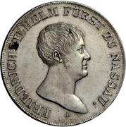 1 Thaler - Friedrich Wilhelm zu Weilburg (Konventionstaler) – obverse