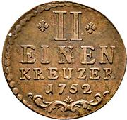 ½ Kreuzer - Karl August – reverse