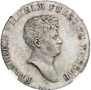 1 Thaler - Friedrich Wilhelm zu Weilburg (Konventionstaler; Pattern) – obverse