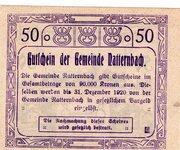 50 Heller (Natternbach) – reverse