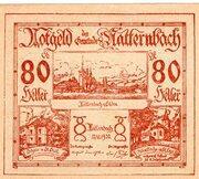 80 Heller (Natternbach) – obverse