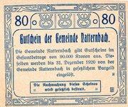 80 Heller (Natternbach) – reverse