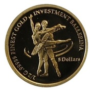 """5 Dollars - Elizabeth II (""""Ballerina"""" Gold Bullion) – reverse"""