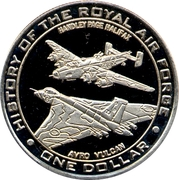 1 Dollar - Elizabeth II (History of the Royal Air Force) – reverse