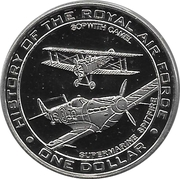 1 Dollar - Elizabeth II (Sopwith Camel & Supermarine Spitfire) – reverse