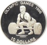 10 Dollars - Elizabeth II (1996 Olympic Games) -  reverse
