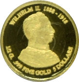 5 Dollars - Elizabeth II (Kaiser Wilhelm II; Gold Bullion) – reverse