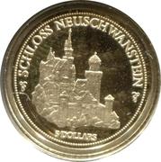 5 Dollars - Elizabeth II (Castle Neuschwanstein) – reverse