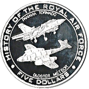 5 Dollars - Elizabeth II (History of the Royal Air Force) – reverse