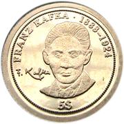 5 Dollars - Elizabeth II (Franz Kafka) – reverse