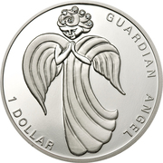 1 Dollar - Elizabeth II (Guardian Angel) – reverse