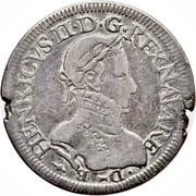 Teston - Henri III de Navarre – obverse