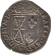 ¼ Écu - Henri II – reverse
