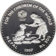 500 Rupees - Birendra Bir Bikram (UNICEF) – reverse