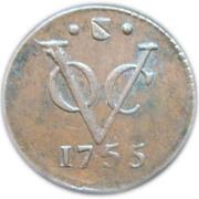 ½ Duit (Utrecht) – reverse