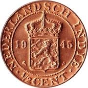 ½ Cent - Wilhelmina -  obverse