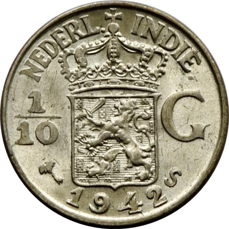 1 10 gulden wilhelmina netherlands east indies numista for 1945 dutch east indies cuisine