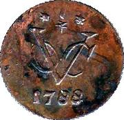 ½ Duit (Gelderland) – reverse