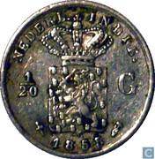 1/20 Gulden - Willem III -  obverse