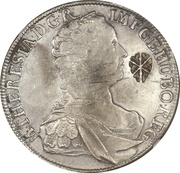 Ducaton - Sultan Paku Nata Ningrat - Madura star countermark on an Austrian Taler from 1752 – obverse