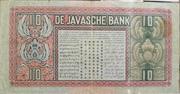 10 Gulden (De Javasche Bank) – reverse