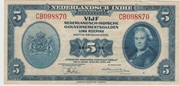 5 Gulden -  Netherlands Indies 1943 – obverse