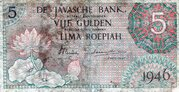 5 Gulden (De Javasche Bank) – obverse