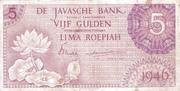 5 Gulden/Roepiah – obverse