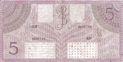 5 Gulden/Roepiah – reverse