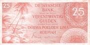 25 Gulden/Roepiah – obverse