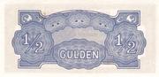 ½ Gulden (Japanese Occupation) – reverse