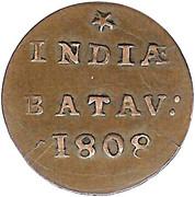 ½ Duit (Batavia) – reverse