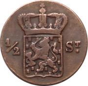½ Stuiver - Willem I -  obverse