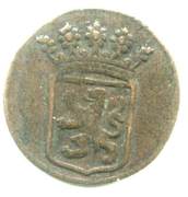 ½ Duit (Holland) – obverse