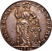 ¼ Gulden (Kwartgulden) – reverse