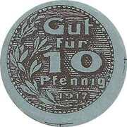 10 Pfennig (Gewerbebank) – obverse