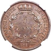 5 Francs (Pattern) – reverse