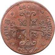 ½ Batzen - Friedrich Wilhelm III – reverse